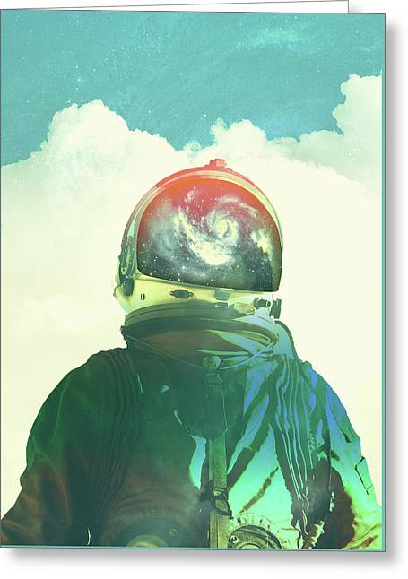 God Is An Astronaut Greeting Card by Fran Rodriguez