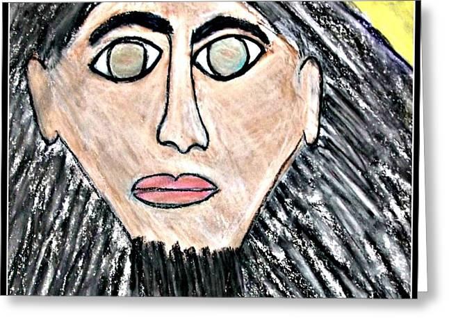 Jesus Pastels Greeting Cards - God Jesus Greeting Card by Karyn Bonti