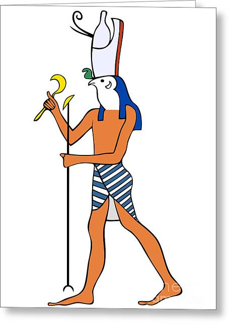 Horus Digital Art Greeting Cards - God of Ancient Egypt - Horus Greeting Card by Michal Boubin