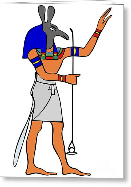 Cut-outs Digital Art Greeting Cards - God of Ancient Egypt - Seth Greeting Card by Michal Boubin