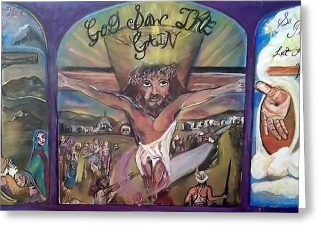 Saw Greeting Cards - God Saw The Gain Greeting Card by Darlene Ricks- Parker