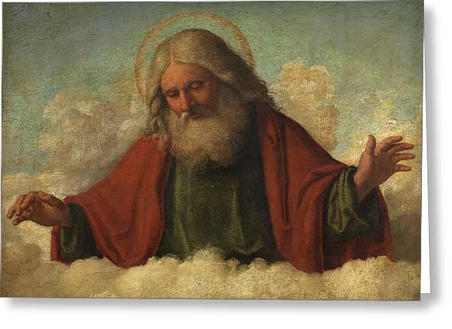 God The Father Greeting Card by Cima da Conegliano