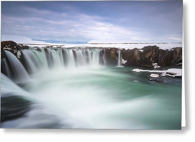 Godafoss Greeting Card by Tor-Ivar Naess