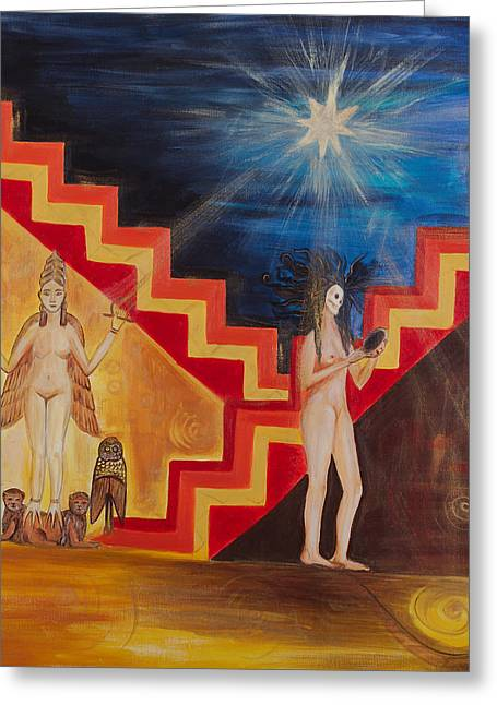 Empowerment Greeting Cards - Goddess Inanna Greeting Card by Solveig Katrin