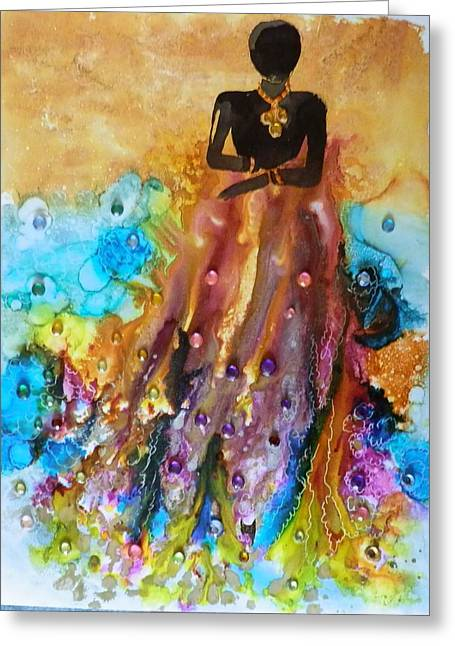 Abstract Woman In Color Greeting Cards - Goddess  Greeting Card by Jann Elwood