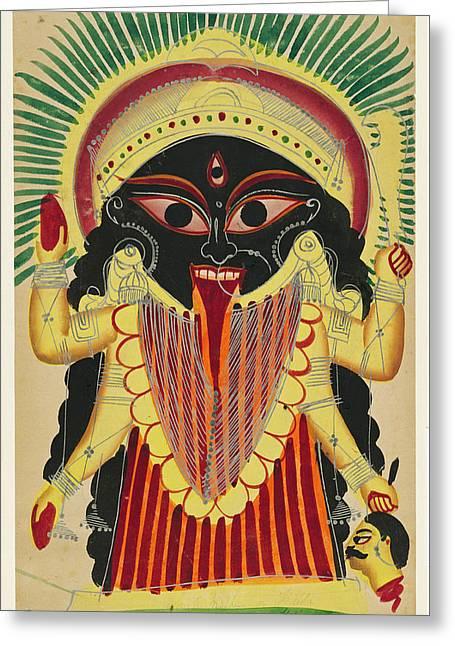 Goddess Kali Greeting Cards - Goddess Kali Greeting Card by Unknown