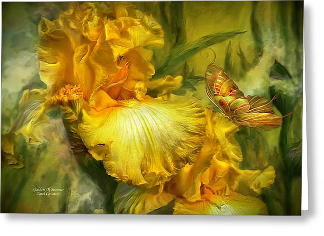 Goddess Of Summer Greeting Card by Carol Cavalaris