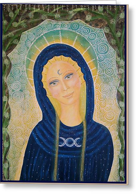 Tripple Greeting Cards - Goddess of the divine feminine Greeting Card by Lila Violet