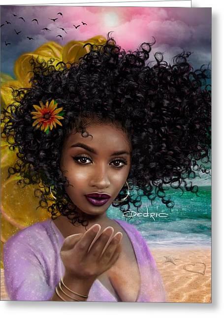 Goddess Oshun Greeting Card by Dedric Artlove