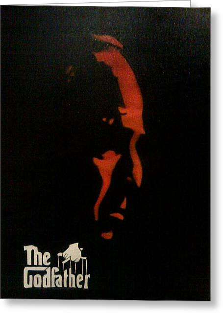 Marlon Brando Poster Greeting Cards - Godfather Greeting Card by Merlene Pozzi