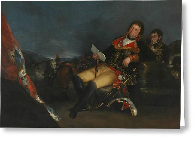 Godoy As General Greeting Card by Francisco Goya
