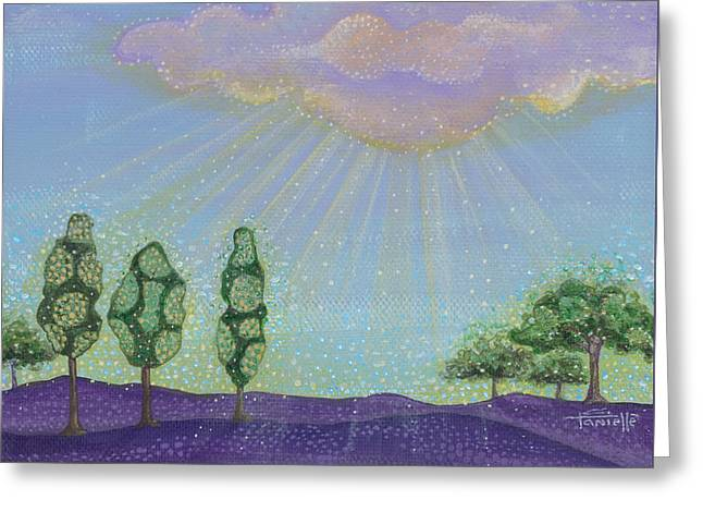 The Sun God Paintings Greeting Cards - Gods Grace Greeting Card by Tanielle Childers