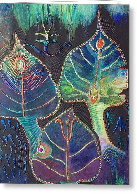 Pandora Greeting Cards - Gods of Pandora Greeting Card by Vijay Sharon Govender