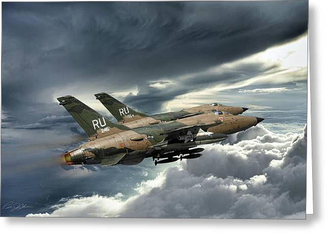 Air Shows Greeting Cards - Gods Of Thunder Greeting Card by Peter Chilelli