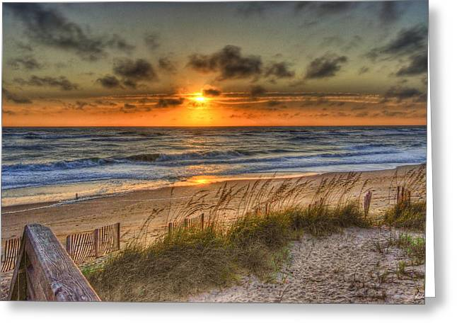God's Promise Of A New Day Greeting Card by E R Smith