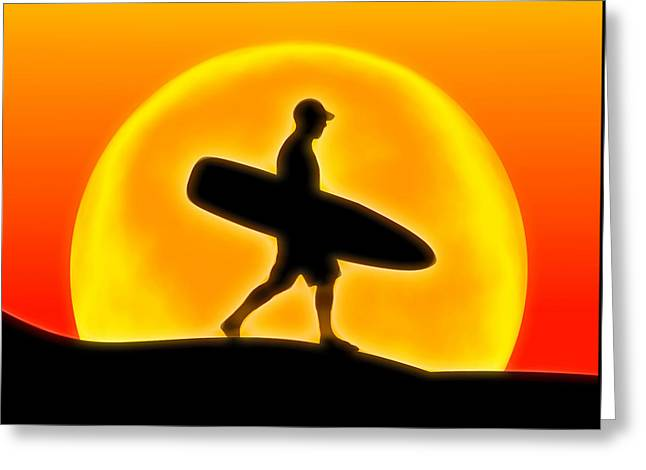 Goin' For A Surf Greeting Card by Andreas Thust