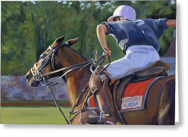 Sporting Paintings Greeting Cards - Goin for It Greeting Card by Alecia Underhill