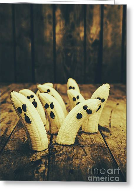 Going Bananas Over Halloween Greeting Card by Jorgo Photography - Wall Art Gallery