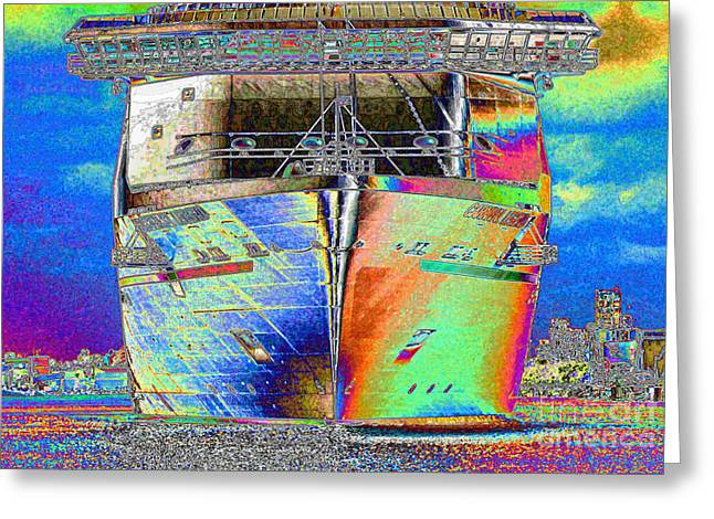 Boat Cruise Digital Greeting Cards - Going Cruising Greeting Card by Carol Groenen