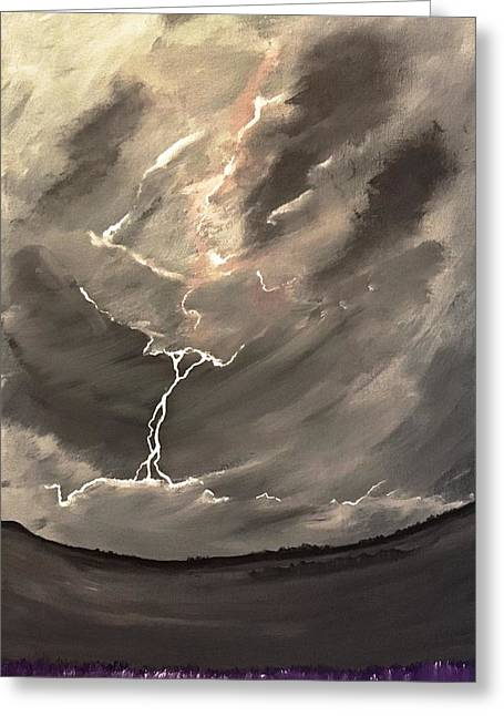 Going Down A Storm Greeting Card by Scott Wilmot