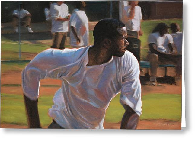 Actions Pastels Greeting Cards - Going Going Going ... Greeting Card by Christopher Reid