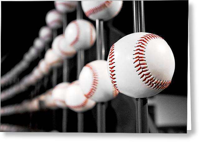 Baseball Art Photographs Greeting Cards - Going Going Gone Greeting Card by Greg Fortier