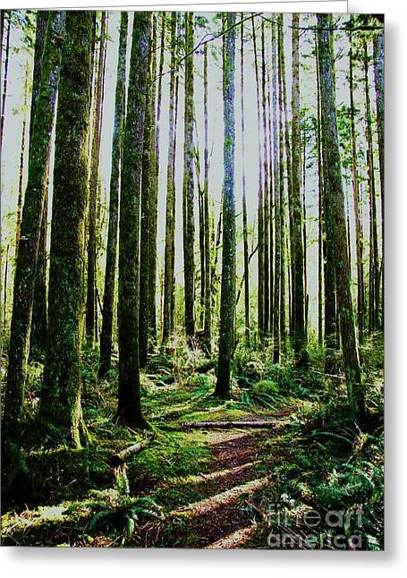 Avant Garde Photograph Greeting Cards - Going Green Greeting Card by Dean Edwards