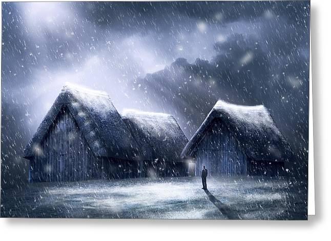 Going Home For Christmas Greeting Card by Svetlana Sewell