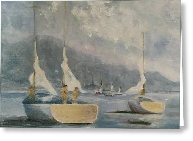 Ocean Sailing Greeting Cards - Going Home Greeting Card by Linda Hiller