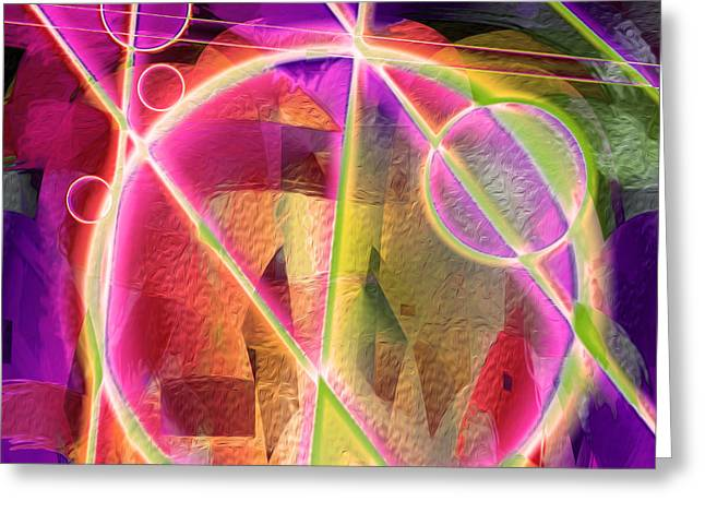 Abstract Digital Digital Greeting Cards - Going the Mile 20 Greeting Card by Lynda Lehmann