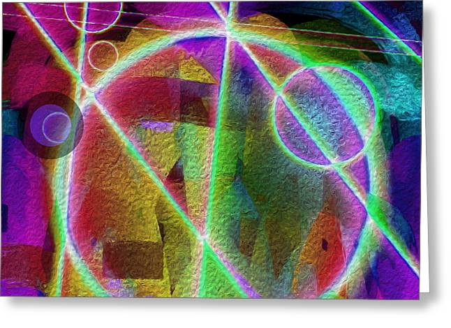 Abstract Digital Digital Greeting Cards - Going the Mile Greeting Card by Lynda Lehmann