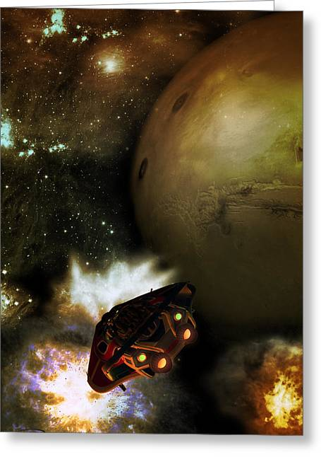 Scifi Greeting Cards - Going To Mars Greeting Card by Emma Alvarez