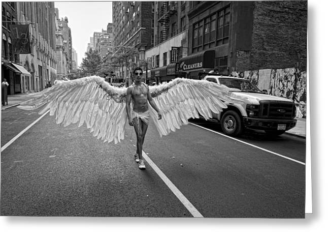 Gay Greeting Cards - Going to the Parade Greeting Card by Robert Ullmann