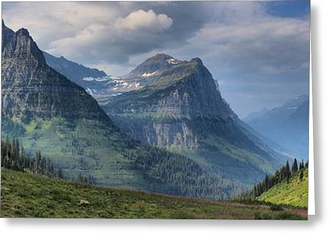 West Glacier Greeting Cards - Going To The Sun Big Bend Greeting Card by Adam Jewell