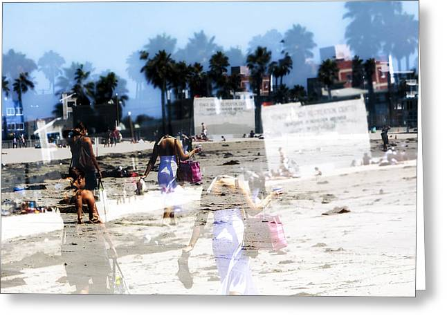 California Beach Art Greeting Cards - Going to Venice Beach Greeting Card by John Rizzuto