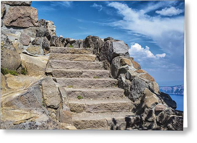 Stepping Stones Greeting Cards - Going Up Greeting Card by Joseph S Giacalone