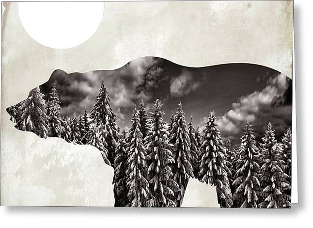 Going Wild Bear Greeting Card by Mindy Sommers