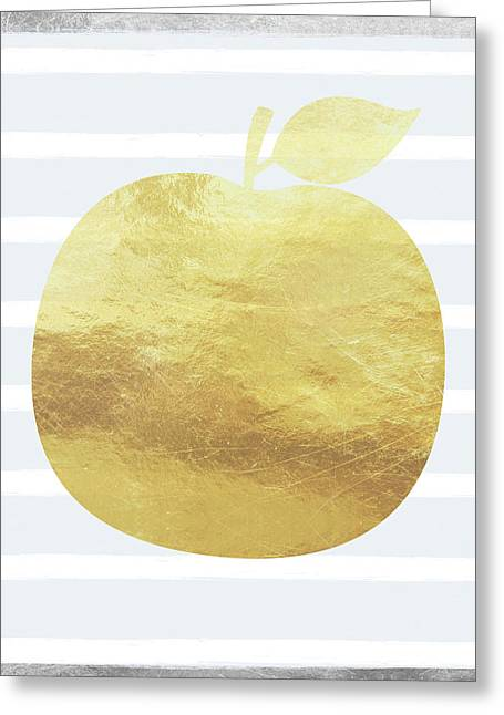 Gold Apple- Art By Linda Woods Greeting Card by Linda Woods