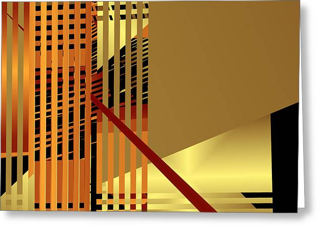 Lattice Greeting Cards - Gold Bars II Greeting Card by Ruth Moratz