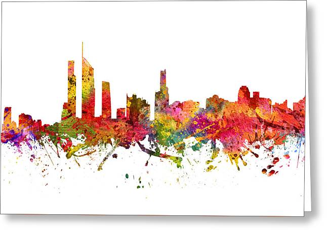 Golds Greeting Cards - Gold Coast Australia Cityscape 08 Greeting Card by Aged Pixel
