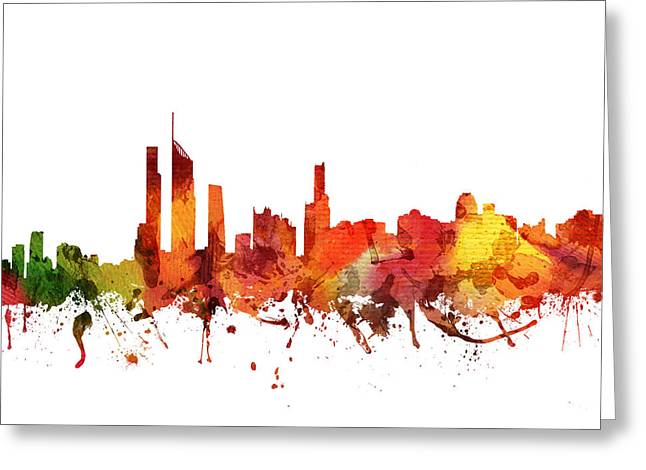 Gold Coast Greeting Cards - Gold Coast Cityscape 04 Greeting Card by Aged Pixel