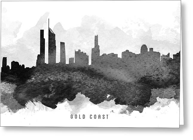 Golds Greeting Cards - Gold Coast Cityscape 11 Greeting Card by Aged Pixel