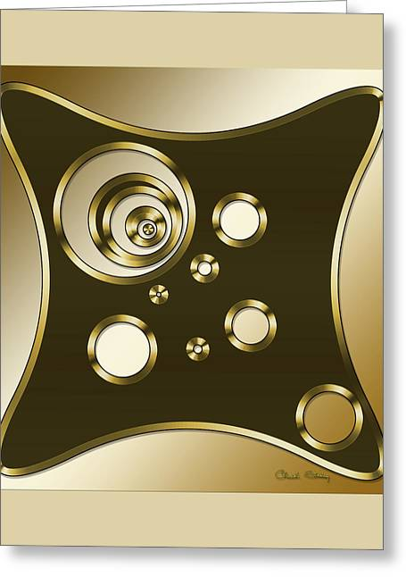 Gold Coffee 6 - Chuck Staley Greeting Card by Chuck Staley