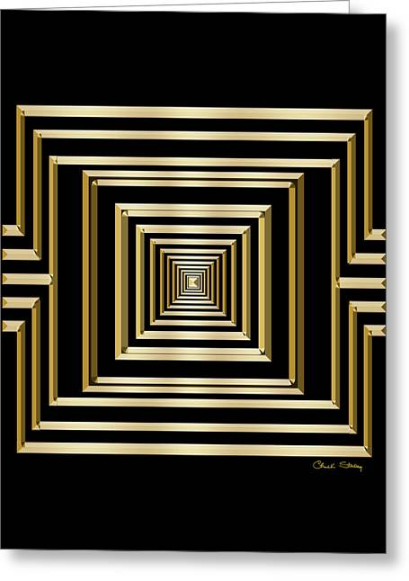 Gold Deco 7 - Chuck Staley Greeting Card by Chuck Staley