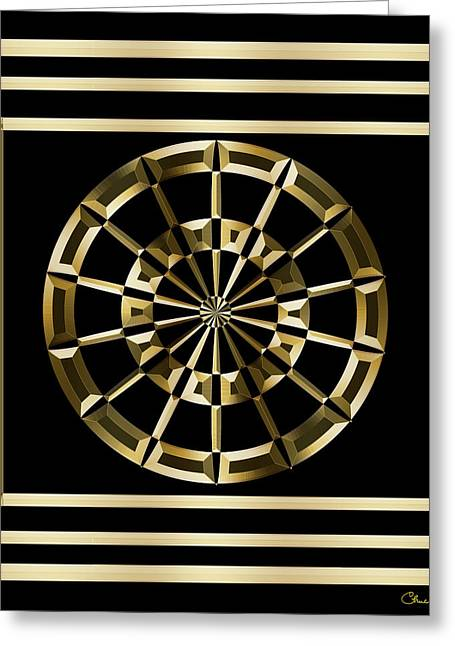 Gold Deco 8 - Chuck Staley Greeting Card by Chuck Staley