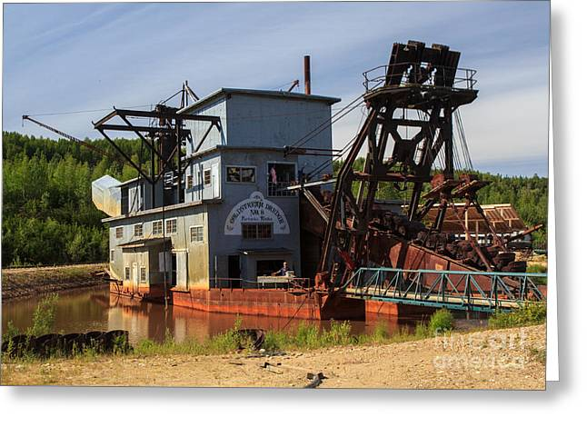 Dredge Greeting Cards - Gold Dredge 8 Greeting Card by Robert Pilkington
