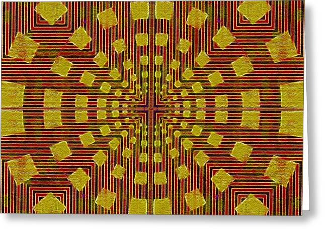 Color Enhanced Greeting Cards - Gold Graphic Design Greeting Card by Caroline Gilmore