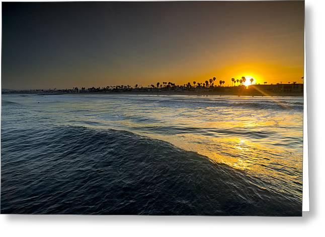 California Beach Greeting Cards - Gold Morning Greeting Card by Sean Davey
