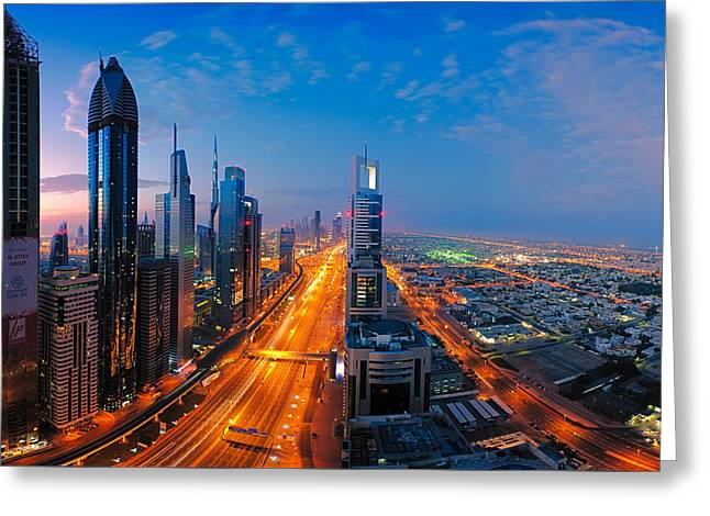 Ultra Modern Photographs Greeting Cards - Gold Rush Dubai Greeting Card by Andre Distel