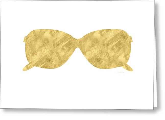 Gold Shades- Art By Linda Woods Greeting Card by Linda Woods